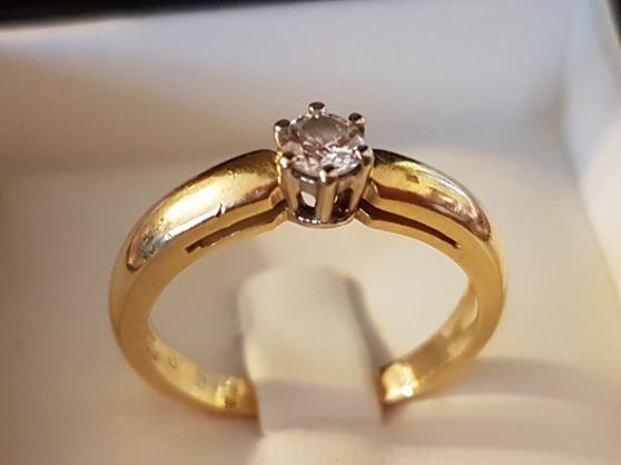Solitaire or jaune 18k diamant T54