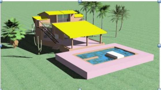 Cause santé villa-piscine au Sénégal