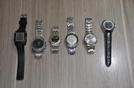 Lot de 6 montres homme non testées
