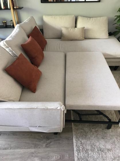 Canapé d'angle Lconvertible - 5 places