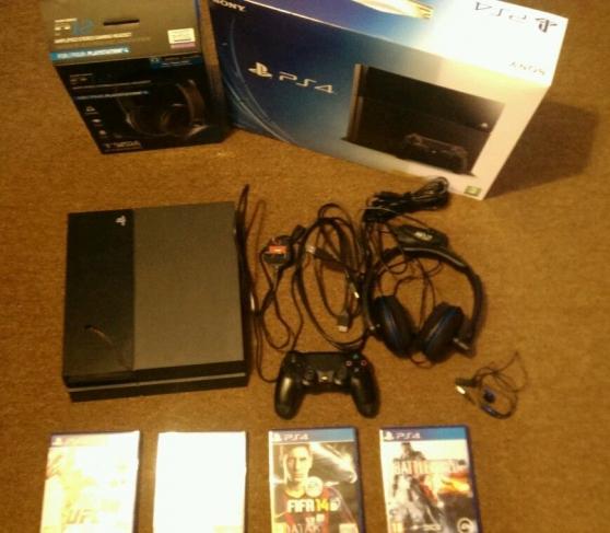 Sony PlayStation 4- console 500 Go + cas