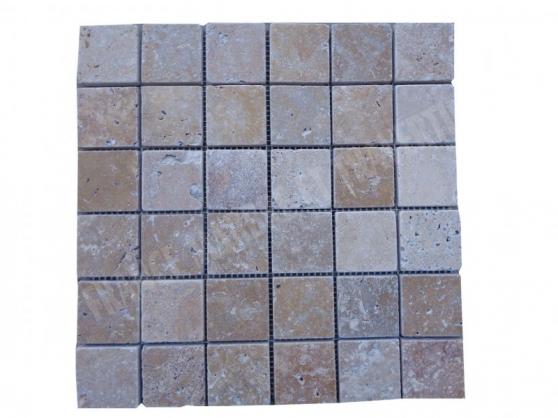 travertin walnut mosaïque 4,8x4.8cm - Annonce gratuite marche.fr