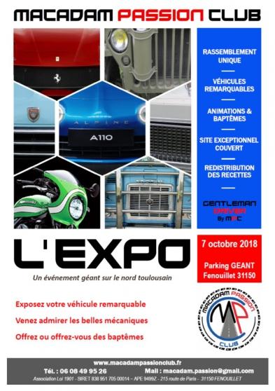Annonce occasion, vente ou achat 'EXPO VOITURES, MOTOS et CAMIONS'