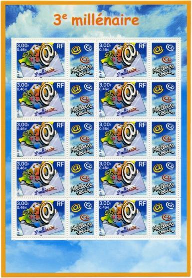 feuillet no 1 de 10 timbres 3365 a - Annonce gratuite marche.fr