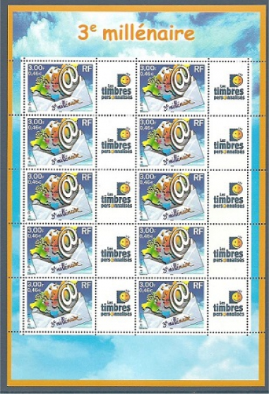 feuillet no 01 de 10 timbres 3365 b - Annonce gratuite marche.fr