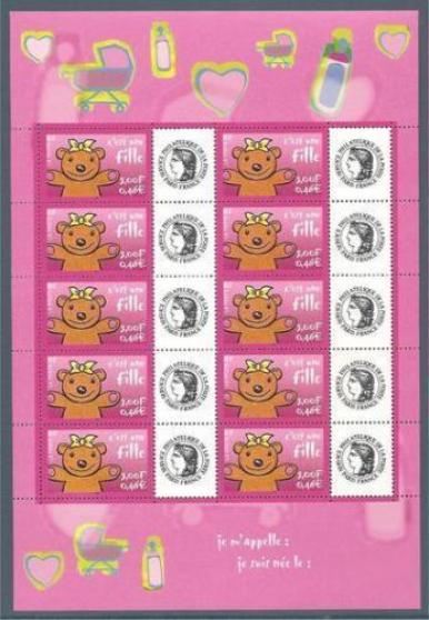 feuillet no 03 de 10 timbres 3431 - Annonce gratuite marche.fr