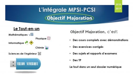 Annonce occasion, vente ou achat 'MPSI-PCSI L\'intégrale'