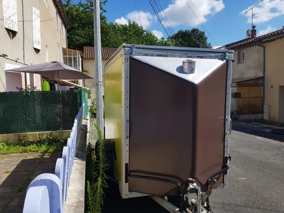 Remorque food truck chocolat et vert ani - Photo 3