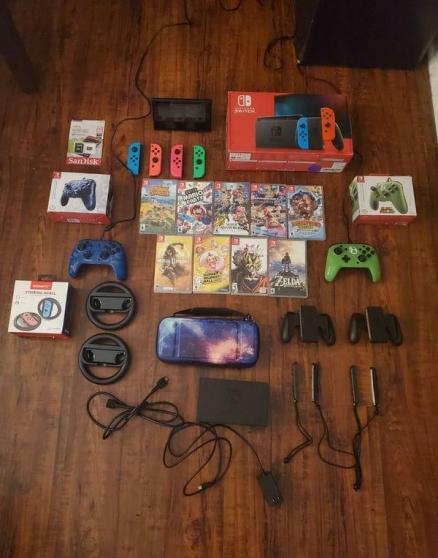Nintendo switch V2 + 9jeux et accessoire