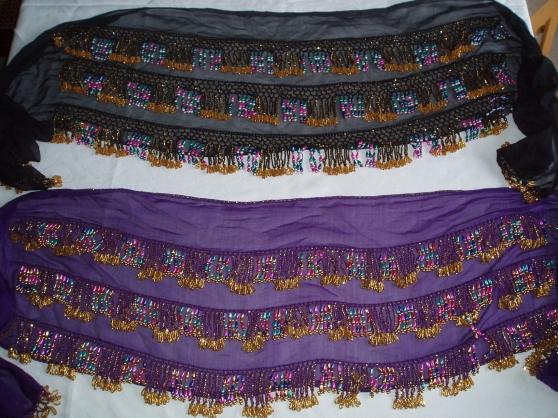 Ceintures multicolores violette et noire