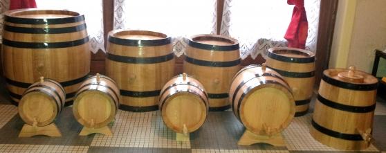 barriques tonnelets chêne artisanaux