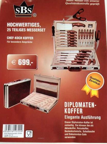 Annonce occasion, vente ou achat 'Malette couteaux professionnelle neuve'