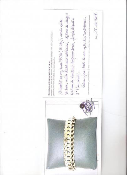 Annonce occasion, vente ou achat 'bracelet en or'