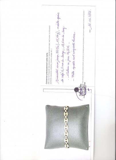 Annonce occasion, vente ou achat 'bracelet or jaune'