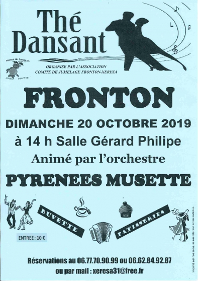 Annonce occasion, vente ou achat 'THE DANSANT A FRONTON'
