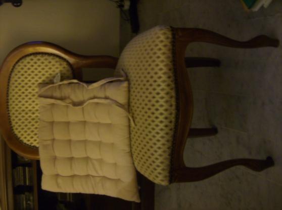 Lot - 4 chaises + coussins