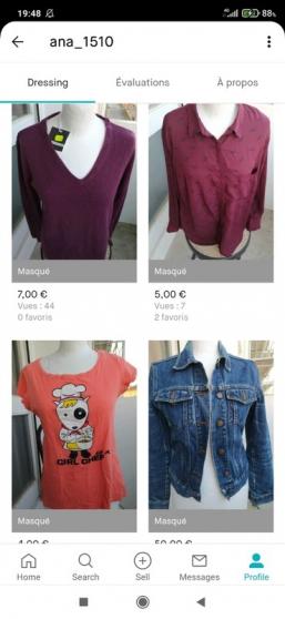 Annonce occasion, vente ou achat 'Lot de vêtements URGENT* AVANT 15/08'