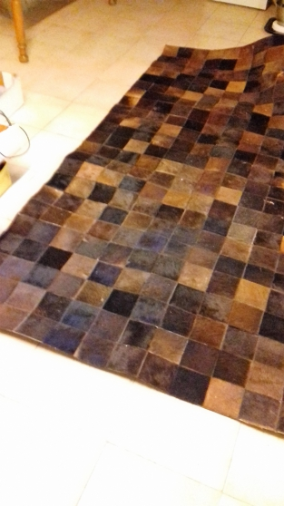 tapis cuir vachette