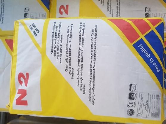 Annonce occasion, vente ou achat 'colle N2 à 9e le sac de 25kg'