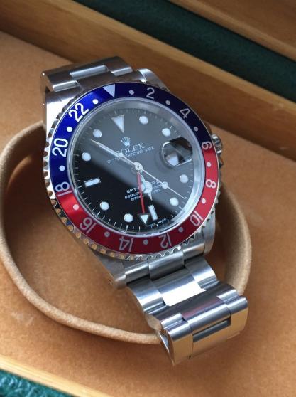 Annonce occasion, vente ou achat 'Rolex Gmt Master 2 16710 pepsi 2003'