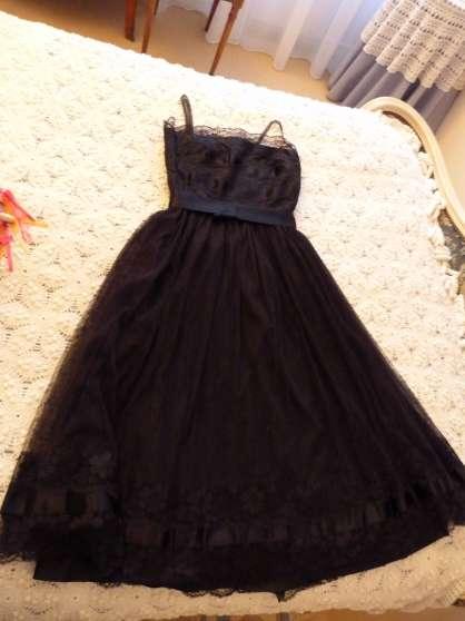 robe dentelle noire vintage