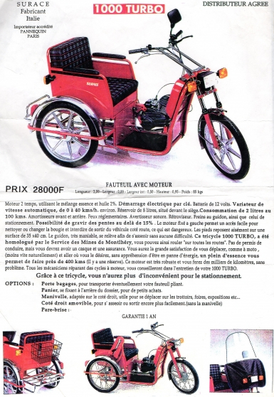 vente tricycle motoriser