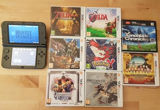 Annonce occasion, vente ou achat 'Nintendo New 3DS XL avec 9 jeux'