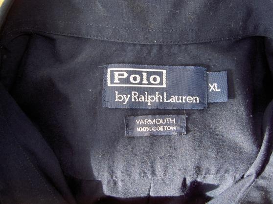 chemise ralph lauren couleur bleu marine - Annonce gratuite marche.fr