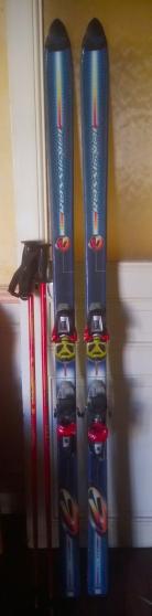 Paire de ski/montures/batons