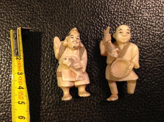 Collection de 11 okimono et 3 netsuke an - Photo 3