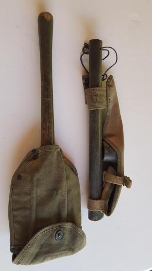 pelle us pliable 1945  et pioche us 1944 - Annonce gratuite marche.fr
