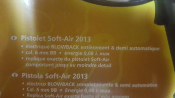Pistolet Soft-air 2013 neuf... - Photo 4