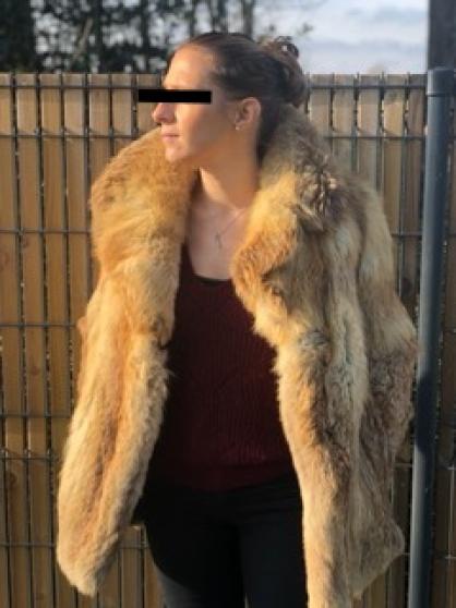 Manteau fourrure renard doré 38/40