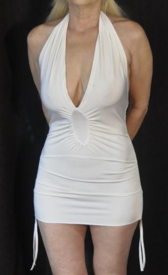 Sexy robe blanche