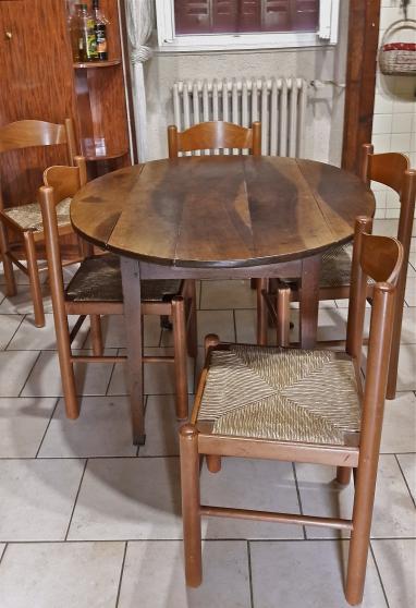 TABLE OVALE ET 6 CHAISES