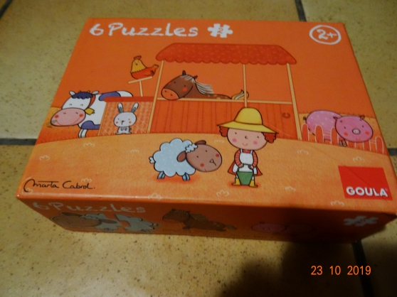 Annonce occasion, vente ou achat '6 Puzzles 2 pièces'