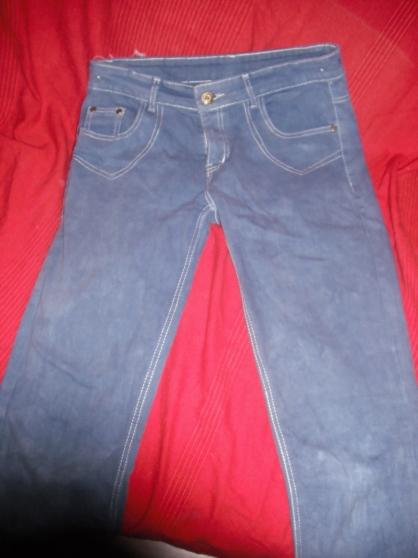 jean bleu avec des reflet blanc - Photo 3