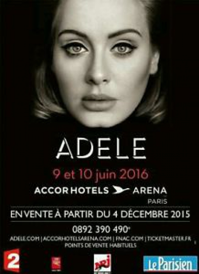 Lot de 2 places Carré Or Concert Adele