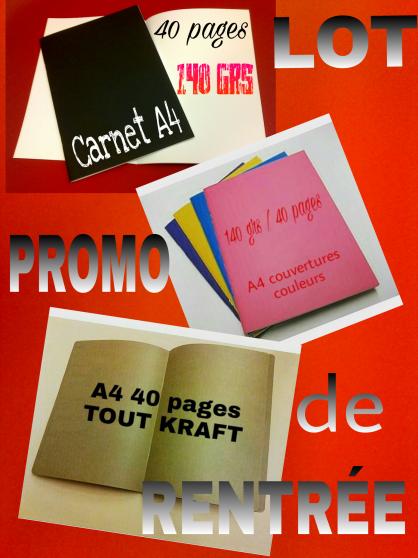 Carnets promotions de rentrée