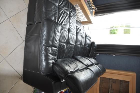 canapé cuir relax electrique - Photo 3
