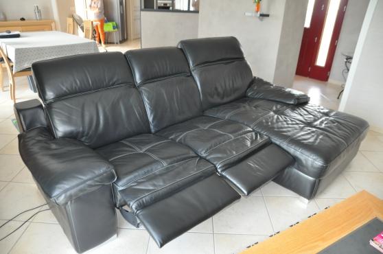 canapé cuir relax electrique - Photo 4