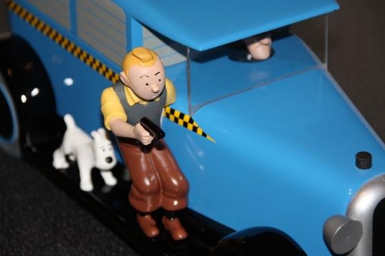 Tintin en Amérique - Taxi bleu