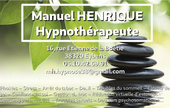 Annonce occasion, vente ou achat 'Hypnothérapeute'