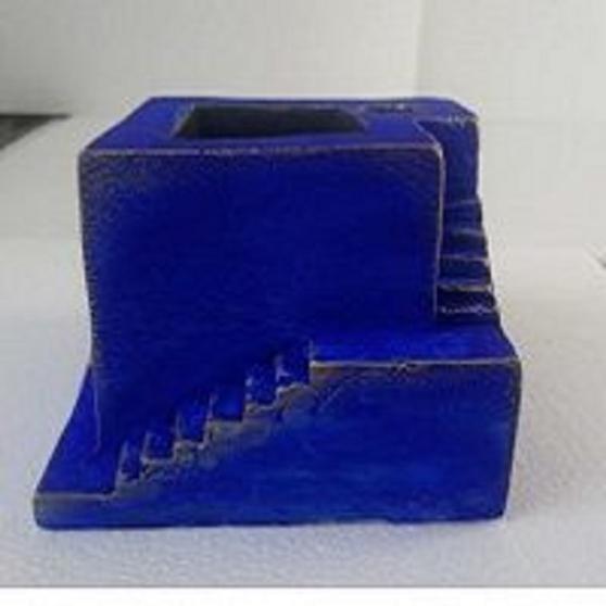 Porte crayon desktop bureau bleu - Photo 3