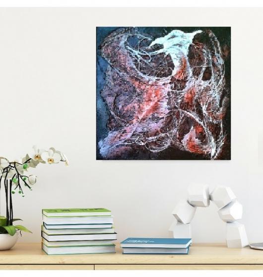 Annonce occasion, vente ou achat 'Tableau peinture abstrait acrylique'