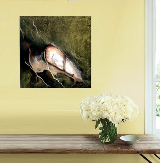 Annonce occasion, vente ou achat 'Tableau peinture acrylique abstrait nuit'