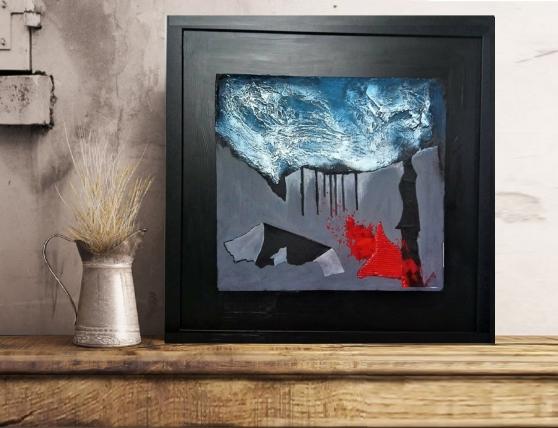 Annonce occasion, vente ou achat 'Tableau peinture abstrait mixte media01'