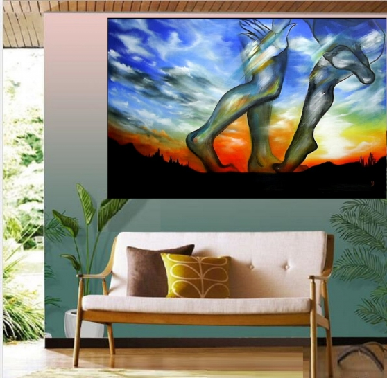 Annonce occasion, vente ou achat 'Tableau peinture acrylique grand taille'