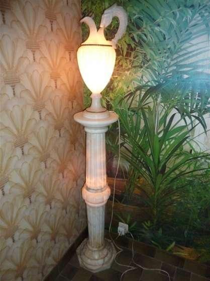 vente colonne lampe en alb tre meubles d coration. Black Bedroom Furniture Sets. Home Design Ideas