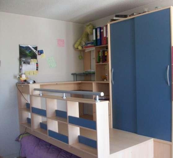 vends combin lit armoire bureau limoges meubles d coration meuble limoges reference meu. Black Bedroom Furniture Sets. Home Design Ideas